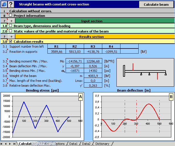 MITCalc - Beam Calculation Screenshot 3