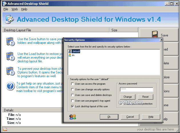 Advanced Desktop Shield Screenshot 3