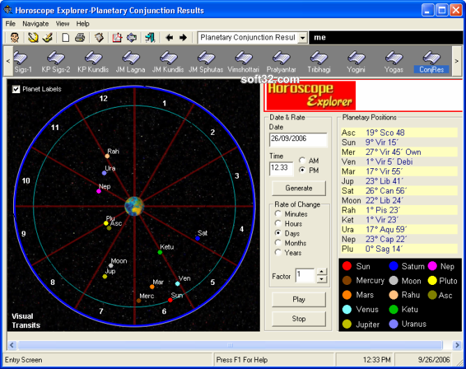Horoscope Explorer Screenshot 1