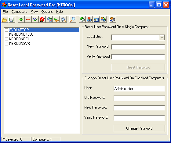Reset Local Password Pro Screenshot