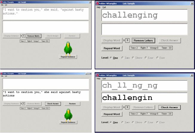 Abilities Builder Matching Tests Screenshot