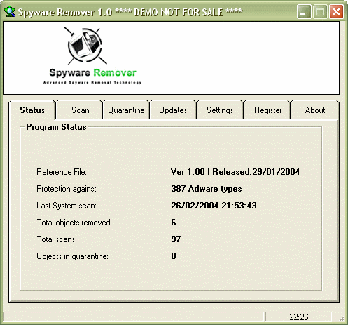 PAL  Spyware Remover Screenshot