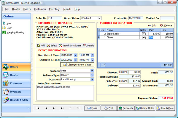 RentMaster Screenshot