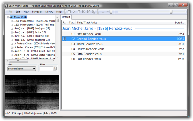 foobar2000 Screenshot 2