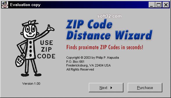 ZIP Code Distance Wizard Screenshot 2