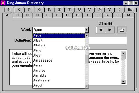 King James Dictionary Screenshot 3