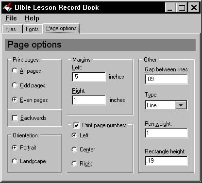 Bible Lesson Record Book Screenshot 1