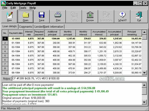 Early Mortgage Payoff Screenshot 2