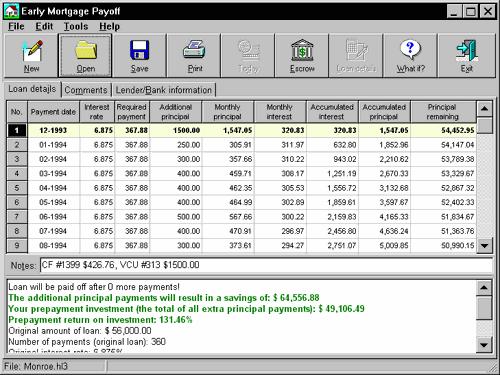 Early Mortgage Payoff Screenshot 1