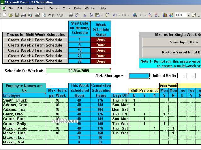 Simple Scheduling Calendar Screenshot 2