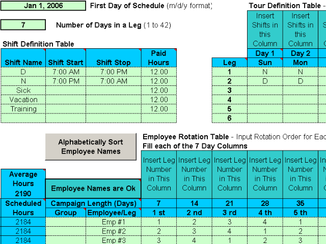 8 Hour Rotating Shift Schedule Examples 8 Hours Shift Schedules