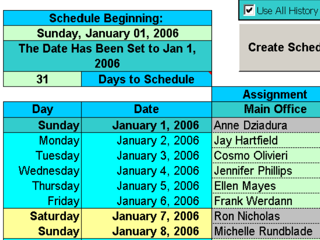Create Floor Schedules for Your Agents Screenshot