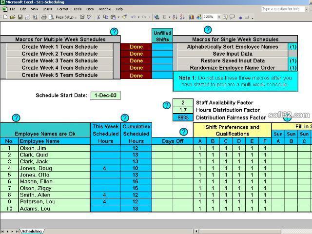 Create Floor Schedules for Your Agents Screenshot 3