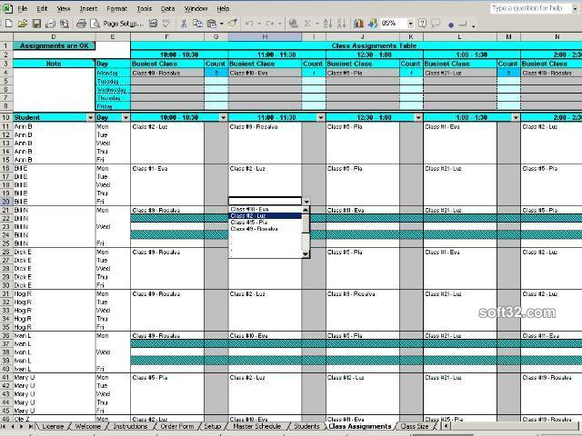 Create Student Class Schedules Screenshot 2