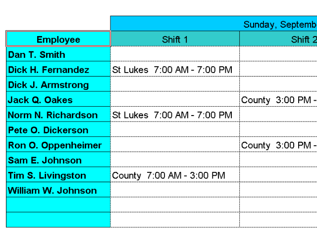 Dispatch Nurses to Hospitals with Excel Screenshot 3