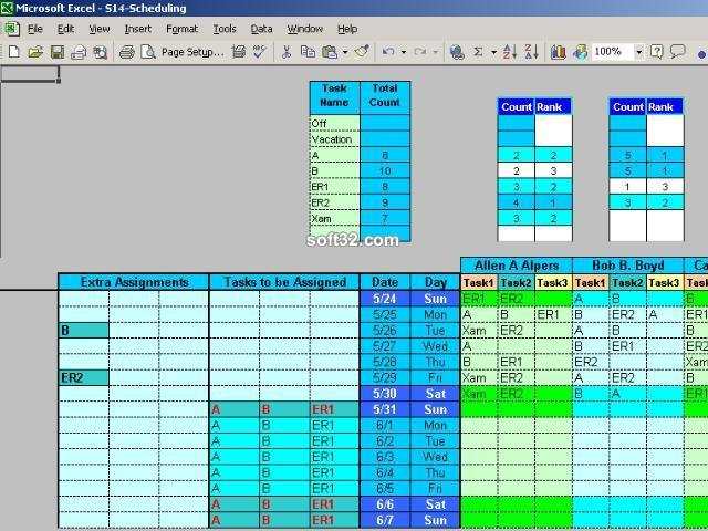Employee Task Scheduling for One Year Screenshot 3