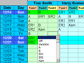 Employee Task Scheduling for One Year 1