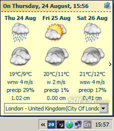 Tray Weather Forecast Screenshot 2
