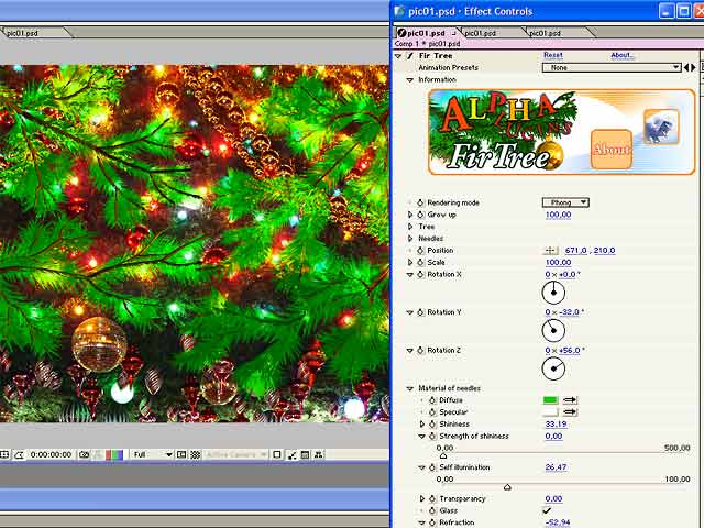 AlphaPlugins FirTree for After Effects Screenshot 1