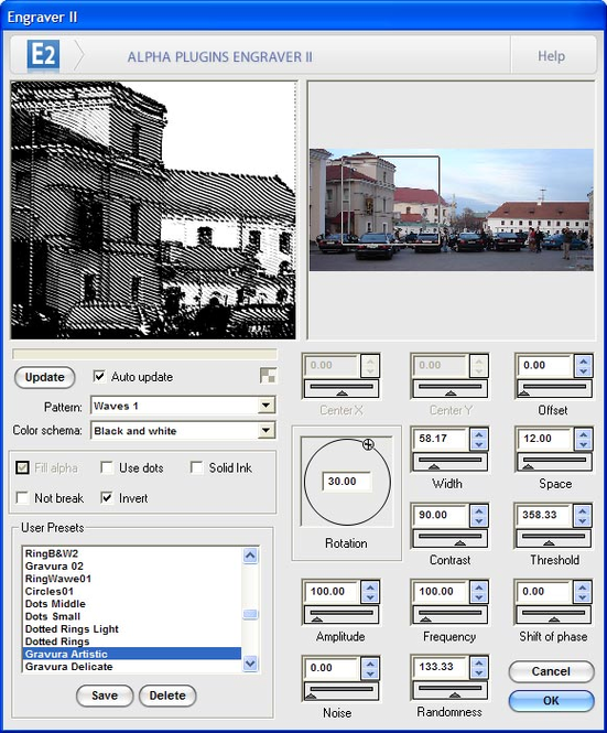Engraver II for Photoshop Screenshot