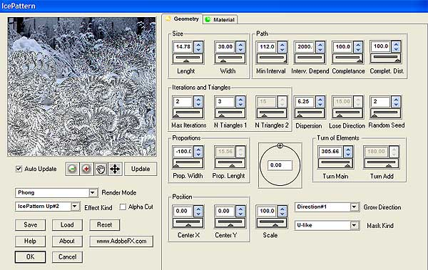 IcePattern for Photoshop Screenshot 1