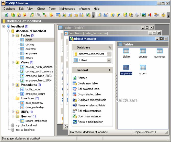 SQL Maestro for MySQL Screenshot 2