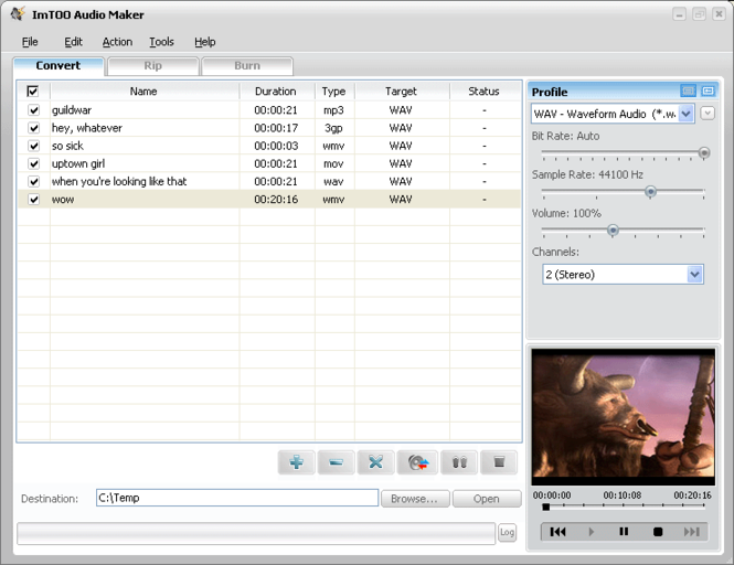 ImTOO Audio Maker Screenshot 3