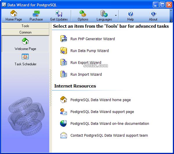 PostgreSQL Data Wizard Screenshot 2