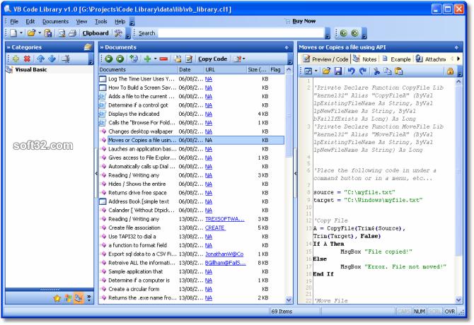 VB Code Library Screenshot 2