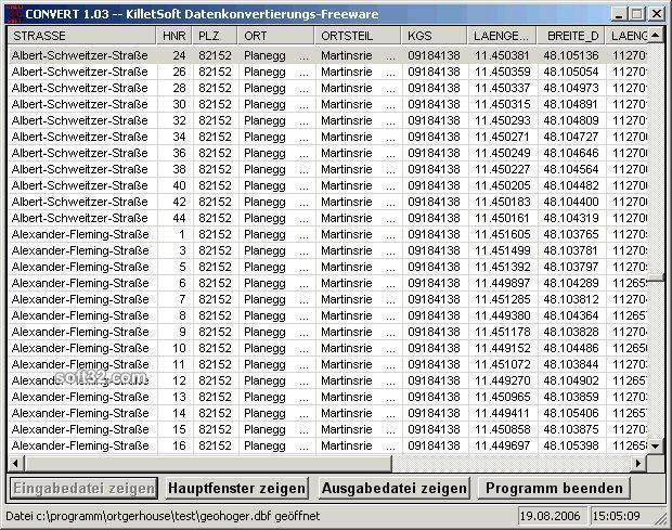 Geodaten International Houses Screenshot 2