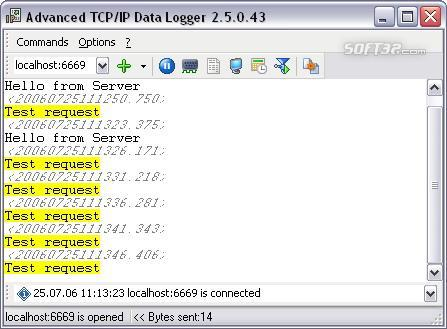 Advanced TCP IP Data Logger Screenshot 3