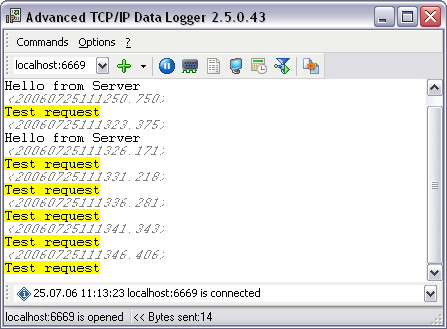 Advanced TCP IP Data Logger Screenshot 1