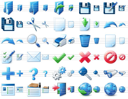 Blue Icon Library Screenshot