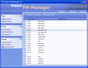Oxygen FM Manager Screenshot
