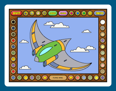 Coloring Book 12: Airplanes Screenshot