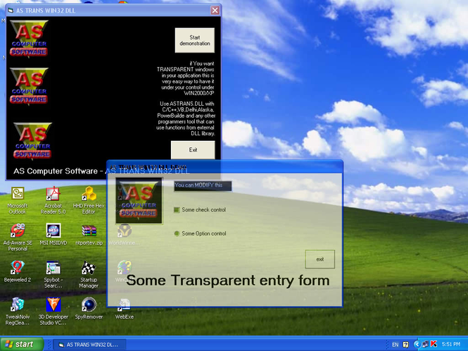 AS TRANS WIN32 DLL Screenshot