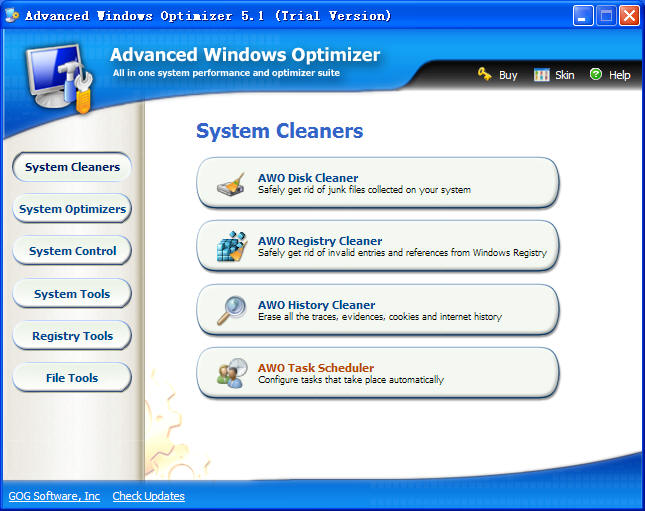 Advanced Windows Optimizer Screenshot