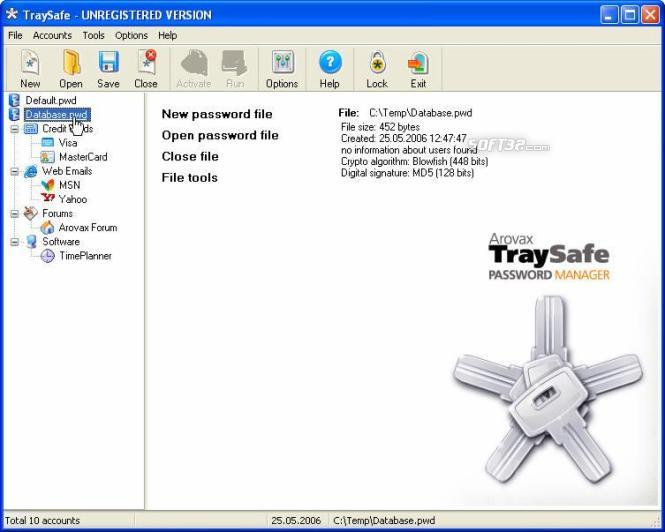 Arovax TraySafe Password Manager Personal Screenshot 2