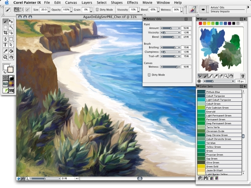 Corel Painter X for Windows Screenshot 1