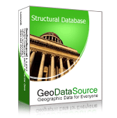 GeoDataSource World Structural Features Database (Basic Edition) Screenshot