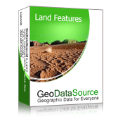 GeoDataSource World Land Features Database (Basic Edition) Screenshot