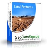 GeoDataSource World Land Features Database (Premium Edition) Screenshot