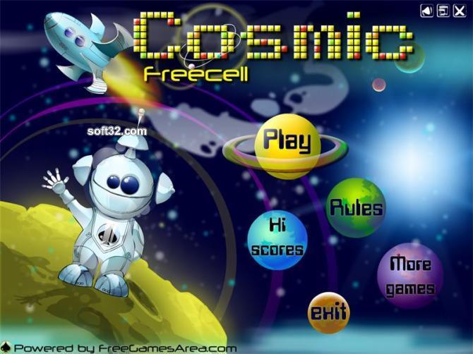 Cosmic Freecell Screenshot