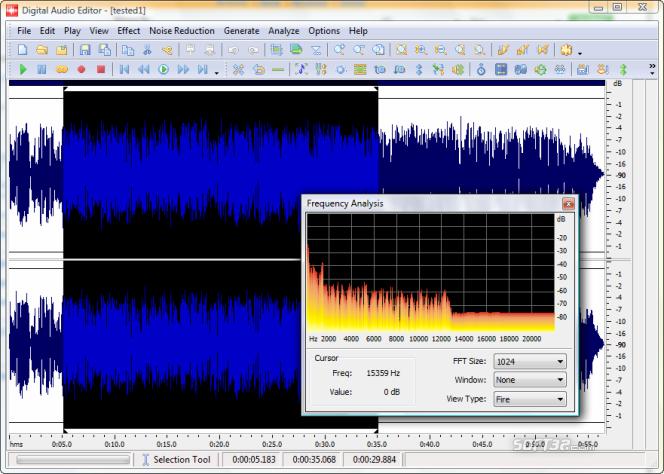 Digital Audio Editor Screenshot 3