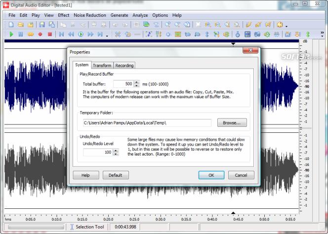 Digital Audio Editor Screenshot 4