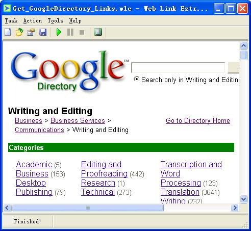 Web Link Extractor Screenshot