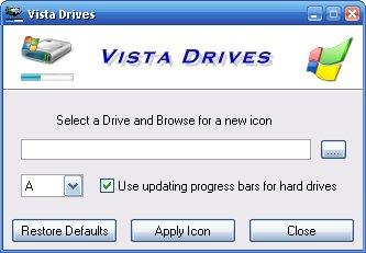 Vista Drives Screenshot