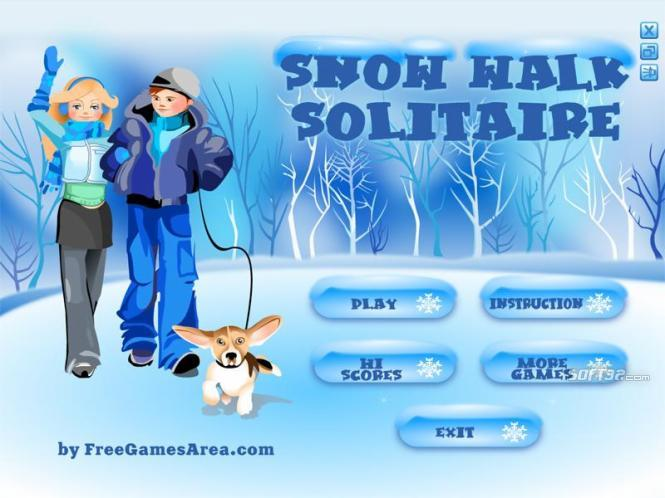 Snow Walk Solitaire Screenshot