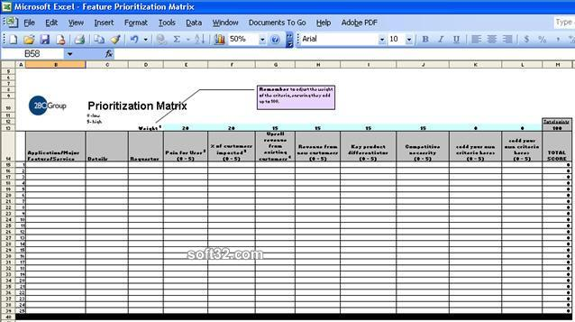 Feature Prioritization Roadmap Matrix Screenshot 2