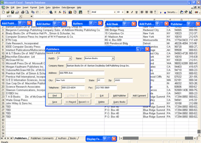 Data Manager for Excel Screenshot